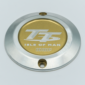 Left engine cover Triumph Isle of Man 2 Gold